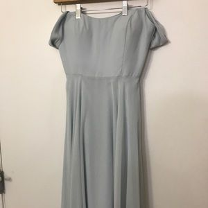 Jenny Yoo light blue off the shoulder gown